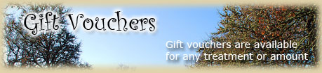Gift Vouchers Avaliable on a wide range of beauty treatments, please contact me for details